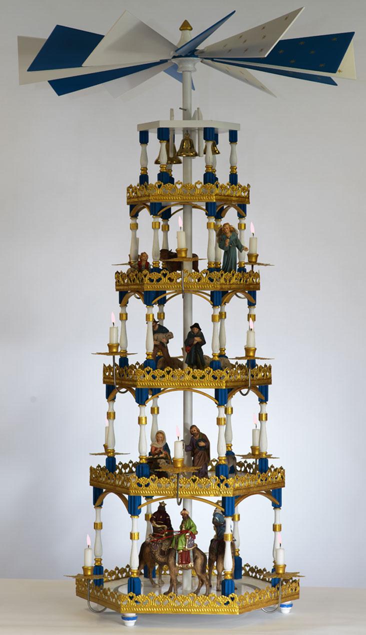 Flemming Pyramide Version dunkelblau-gold