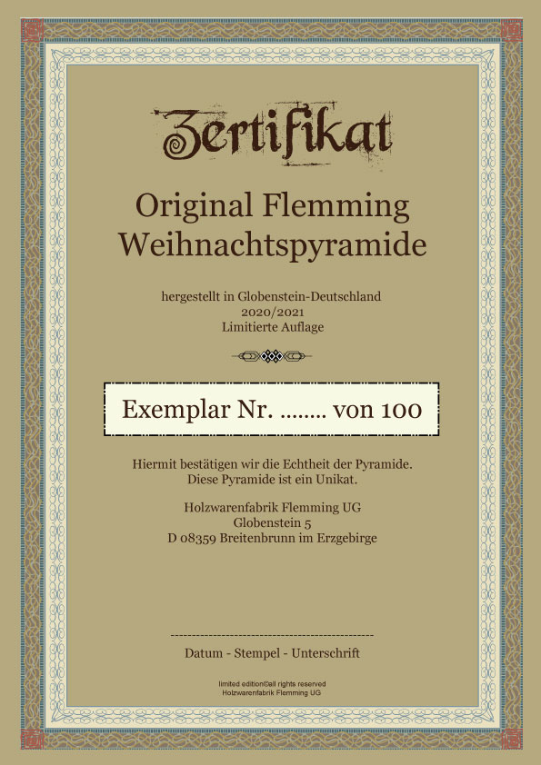 Zertifikat Flemming Pyramide